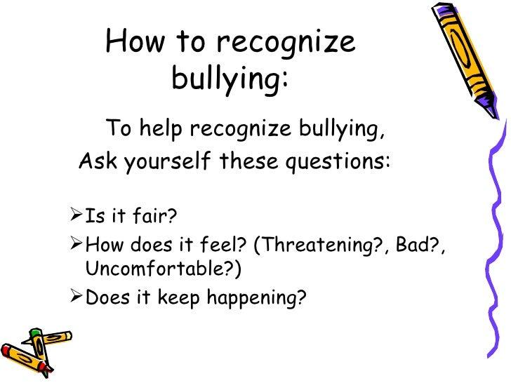 6th Grade Bullying Presentation