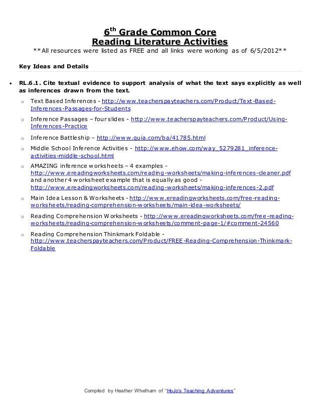 6th Grade summarizing worksheets 6th grade : Ereading Worksheets Main Idea Free Worksheets Library | Download ...