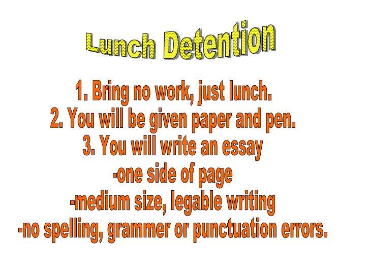 detention discipline essay