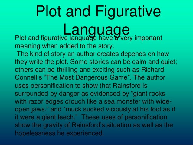 Figurative Language In The Most Dangerous Game | eNotes