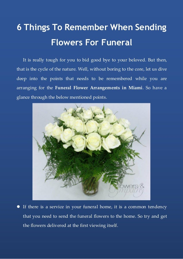 6 Things To Remember When Sending Flowers For Funeral