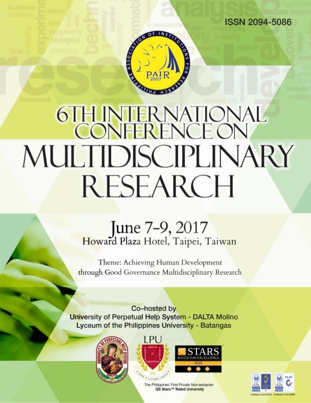 6th International Conference Multidisciplinary Research