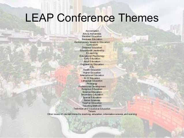 6th International Conference on Learning, Education and
