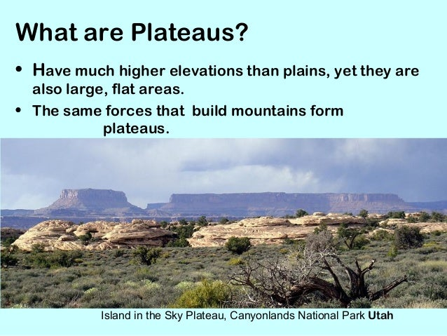 Mountains - Definition d un plateau ...