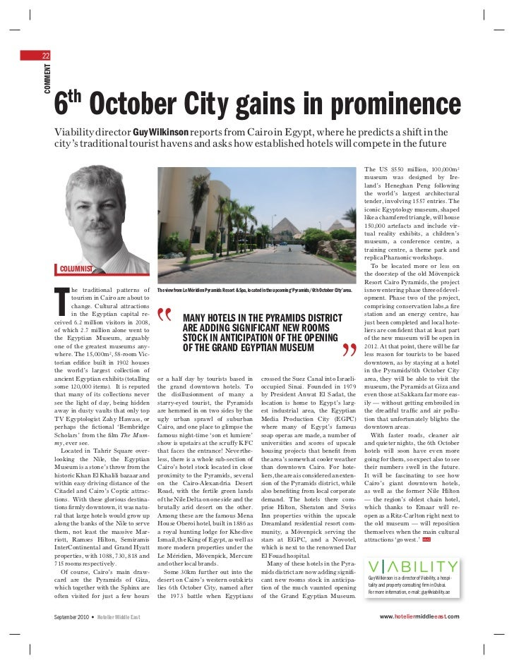 22COMMENT               th          6 October City gains in prominence          Viability director Guy Wilkinson reports f...