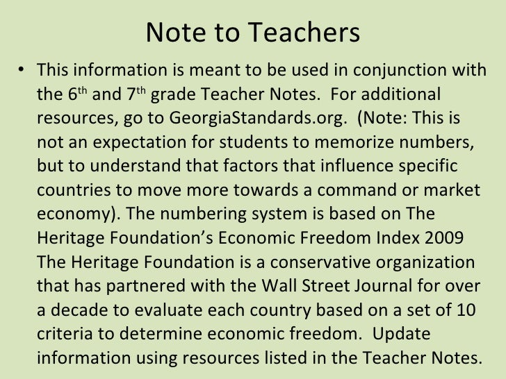Note to Teachers <ul><li>This information is meant to be used in conjunction with the 6 th  and 7 th  grade Teacher Notes....