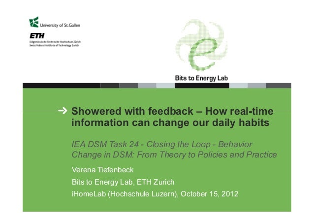 Showered with feedback – How real-time information can change our daily habits IEA DSM Task 24 - Closing the Loop - Behavi...