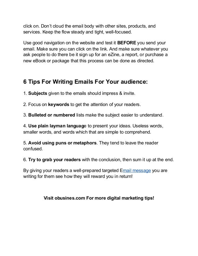 6 Tips For Writing Emails That Capture Your Audience Slide 2