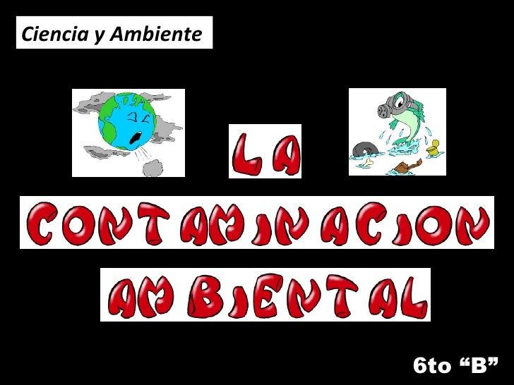 """6to """"B"""" Ciencia y Ambiente"""