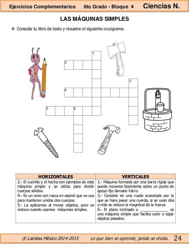 6to grado bloque 4 ejercicios complementarios for Maquinas de ejercicios