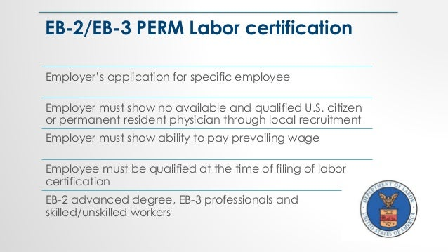 Employer's application for specific employee Employer must show no available and qualified U.S. citizen or permanent resid...