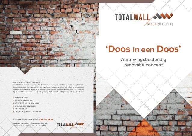 'Doos in een Doos' Aarbevingsbestendig renovatie concept MEER WETEN OF DIRECT EEN AFSPRAAK MAKEN? T 088 - 111 25 25 | info...