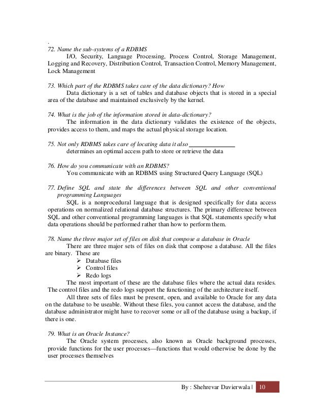 English In Italian: Rdbms Concepts