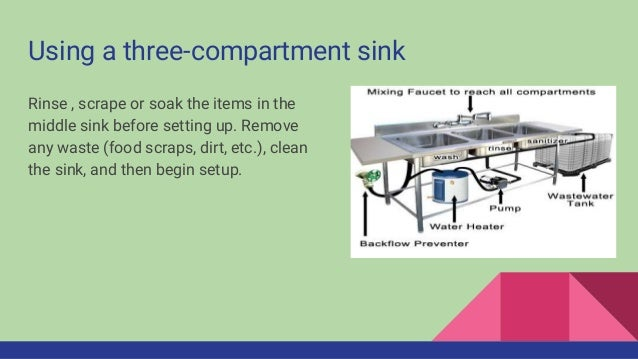 Setting Up A Three Compartment Sink; 2.