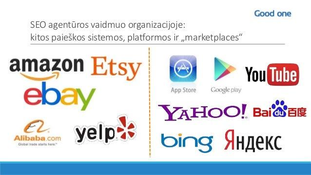 """SEO agentūros vaidmuo organizacijoje: kitos paieškos sistemos, platformos ir """"marketplaces"""""""