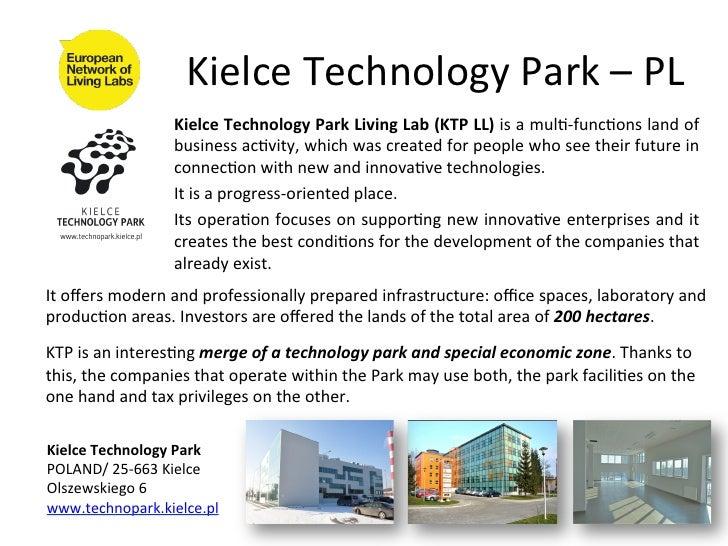 Kielce Technology Park – PL                            Kielce Technology Park Living Lab (KTP LL)...
