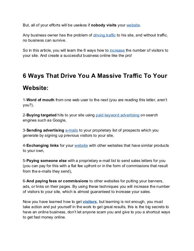 6 Ways That Drive You A Massive Traffic To Your Website Slide 2