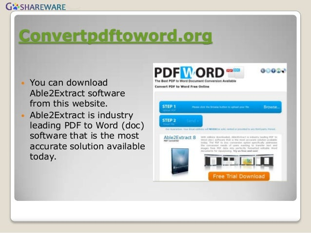 websites that convert pdf to word