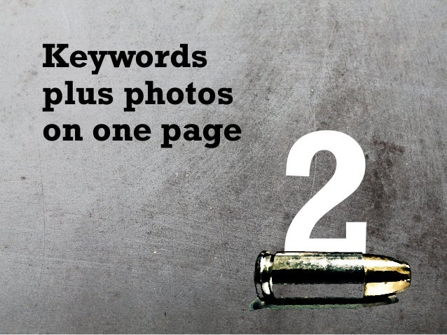 2 Keywords plus photos on one page