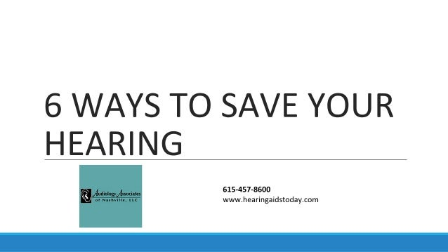 6 Ways to Save Your Hearing