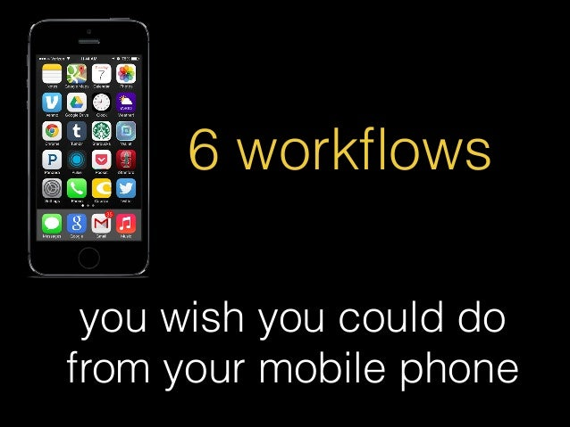 6 workflows you wish you could do from your mobile phone
