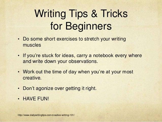 CREATIVE WRITING FOR BEGINNERS EBOOK