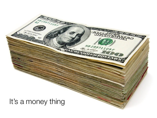 @usabilitycounts #uxss It's a money thing