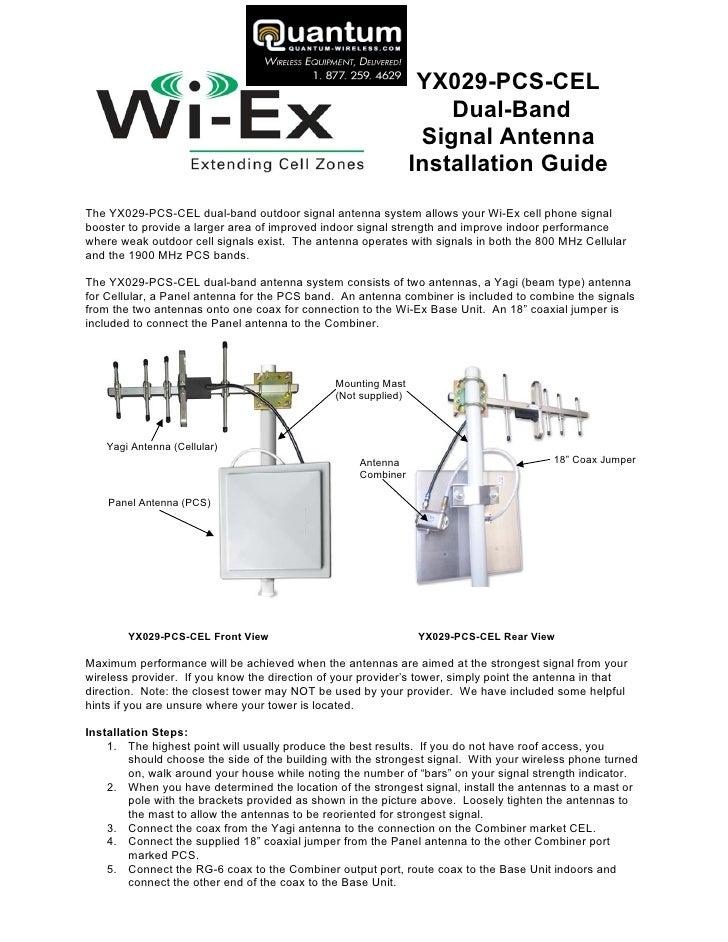 YX029 Signal Antenna Instructions (quantum-wireless com)