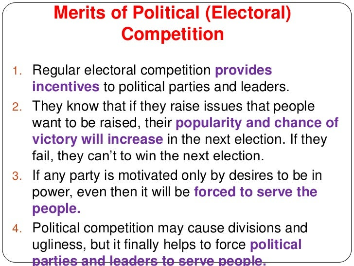 14 Merits Of Political