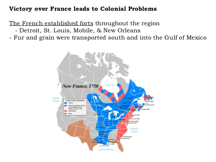 The French established forts  throughout the region  - Detroit, St. Louis, Mobile, & New Orleans  - Fur and grain were tra...