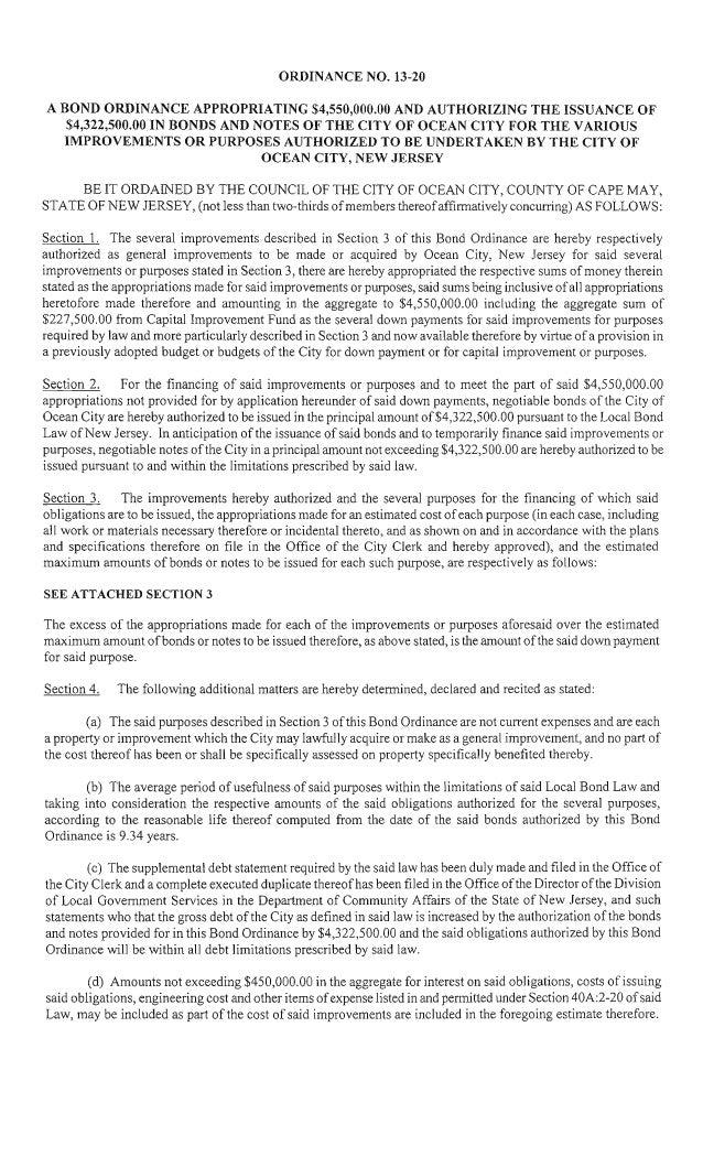 Ocean City Council agenda July 11, 2013
