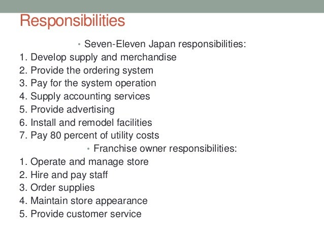 supply chain seven eleven case essay Order this answer or any other essay order description 1 topic: case study of seven eleven may 26, 2016 what supply chain action has 7-eleven taken to support this strategy (how has it structured it facilities, information.