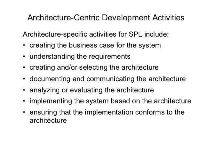 7 - Architetture Software - Software product line