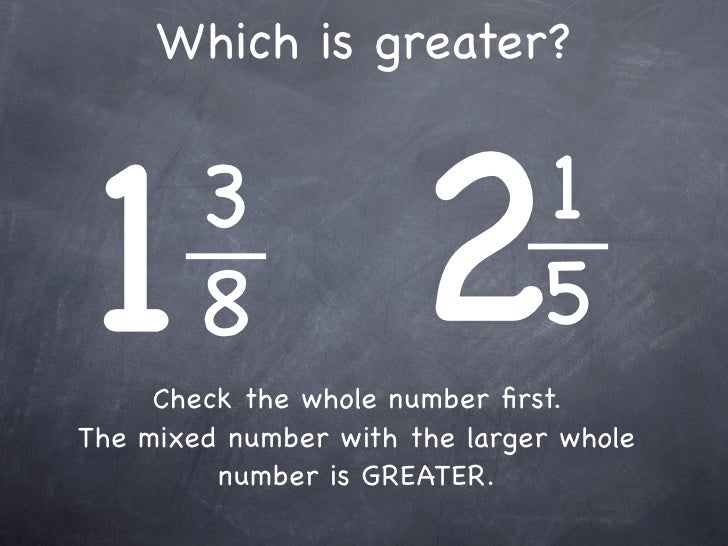 7-12 Compare/Order Fractions & Mixed #s