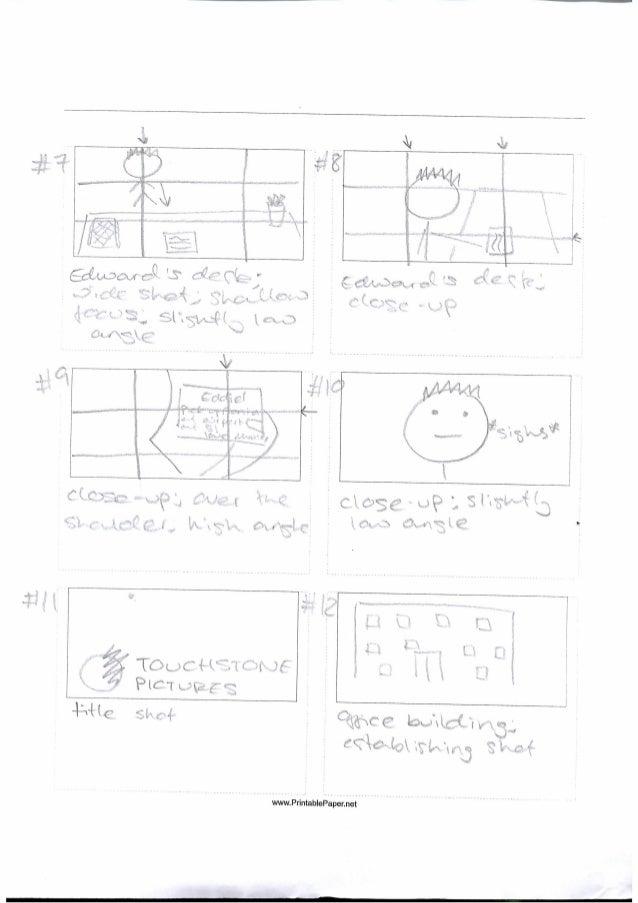 Storyboard - frames 7-12
