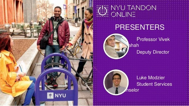 July 12, 2016 Webcast for the Management of Technology MS at NYU Tandon Online Slide 2