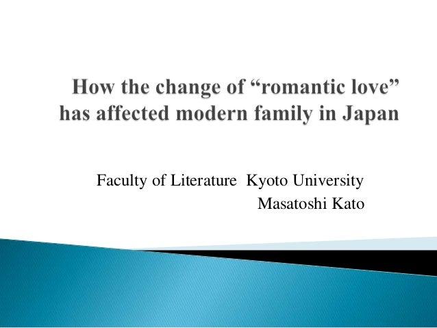 Faculty of Literature Kyoto University                       Masatoshi Kato