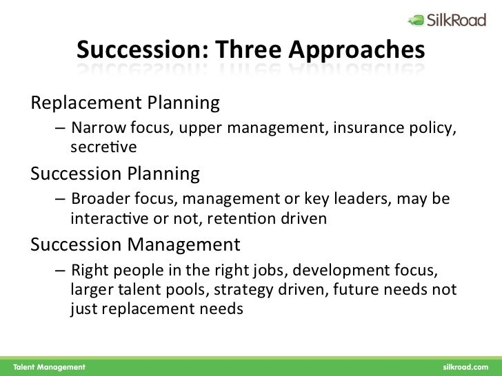 succession planning and employee retention How training and development, talent retention, talent recruitment and   succession planning strategy can be used to mobilize and manage staff in order  to.