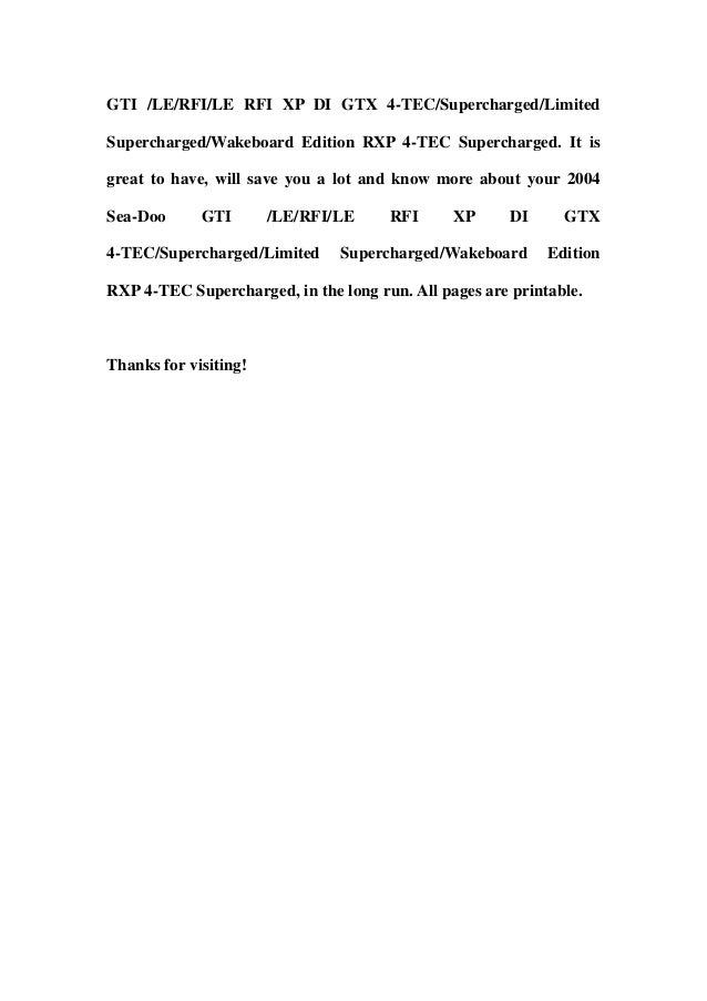 2003 Sea Doo Xpdi Wiring Diagrams - Dolgular.com