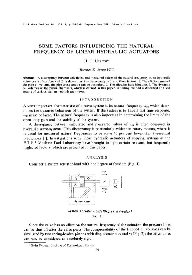 Int. J. Mach. Tool Des. Res. Vol. 11, pp. 199-207. Pergamon Press 1971. Printed in Great Britain SOME FACTORS INFLUENCING ...