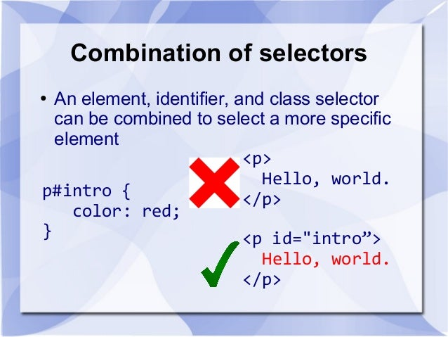 css introduction to cascading style sheets If you want to study this subject first, find the tutorial on our home page  css  stands for cascading style sheets styles define how to display html elements .
