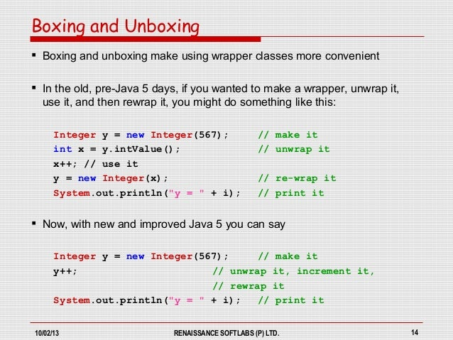 BOXING AND UNBOXING IN JAVA EBOOK