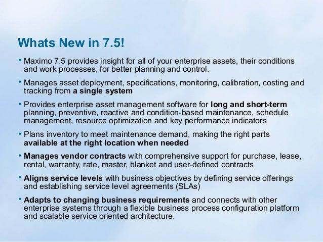 IBM Maximo Asset Management 7.5 Add-ons Slide 2