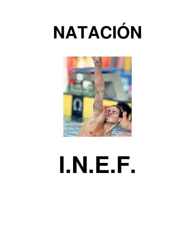 NATACIÓN  I.N.E.F.