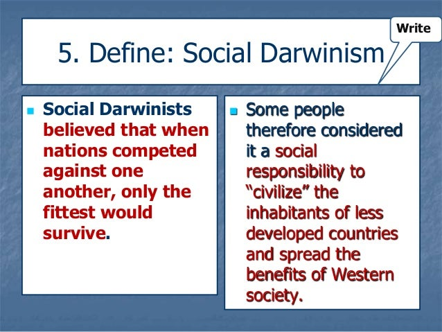 explain how social darwinism and determinism Racism and social darwinism wallace g mills hist 203 8 racism & social darwinism - in the 19th century, europeans increasingly became preoccupied, even obsessed, with  - there are amusing sidelights to this social darwinism charles kellogg was a social darwinist and a zealot for 'moral purity' he thought that eggs and meat.