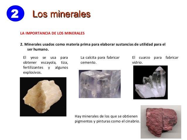 7 la geosfera rocas y minerales - Utilidades del yeso ...