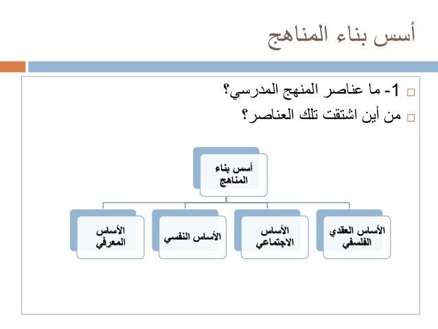 أسس بناء المناهج التربوية pdf