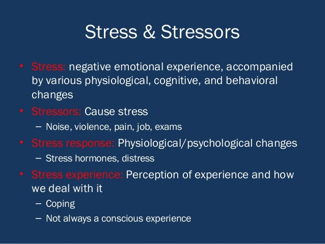 psychology of stress Mental and emotional impact of stress harry mills, phd, natalie reiss, phd and mark dombeck, phd researchers in the field of psychoneuroimmunology (pni) study the ways in which the immune system and the nervous system communicate with each other and impact people's mental and emotional health.