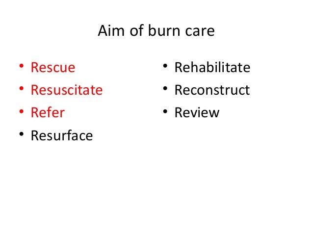 management of a burn patient  Slide 2