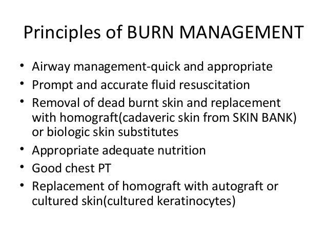 management of a burn patient  Slide 3